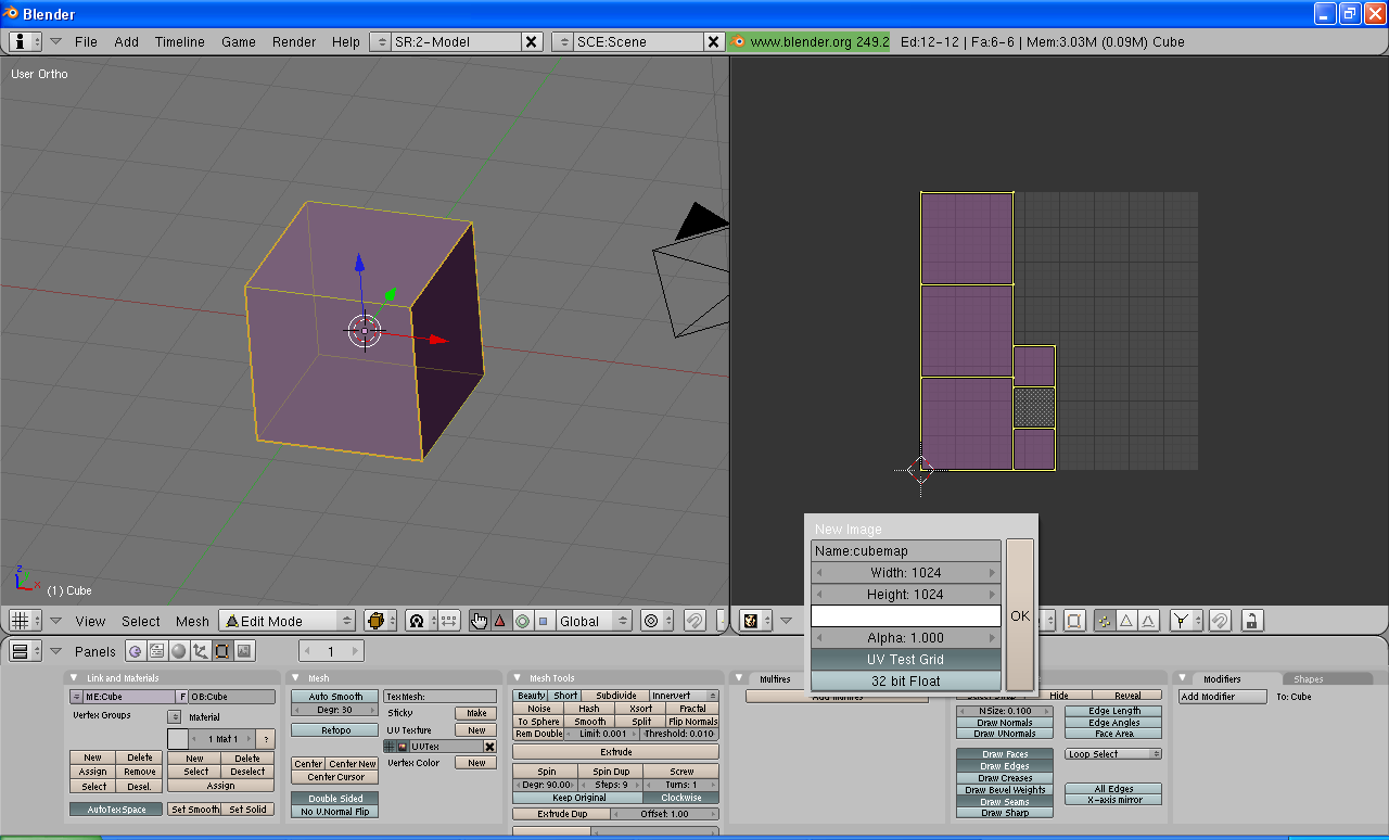 How to export a simple mesh from Blender to the UDK